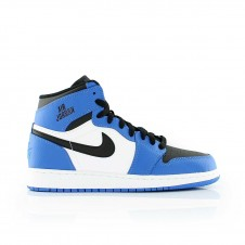 Nike Air Jordan 1 Retro High White Blue Белые Синие